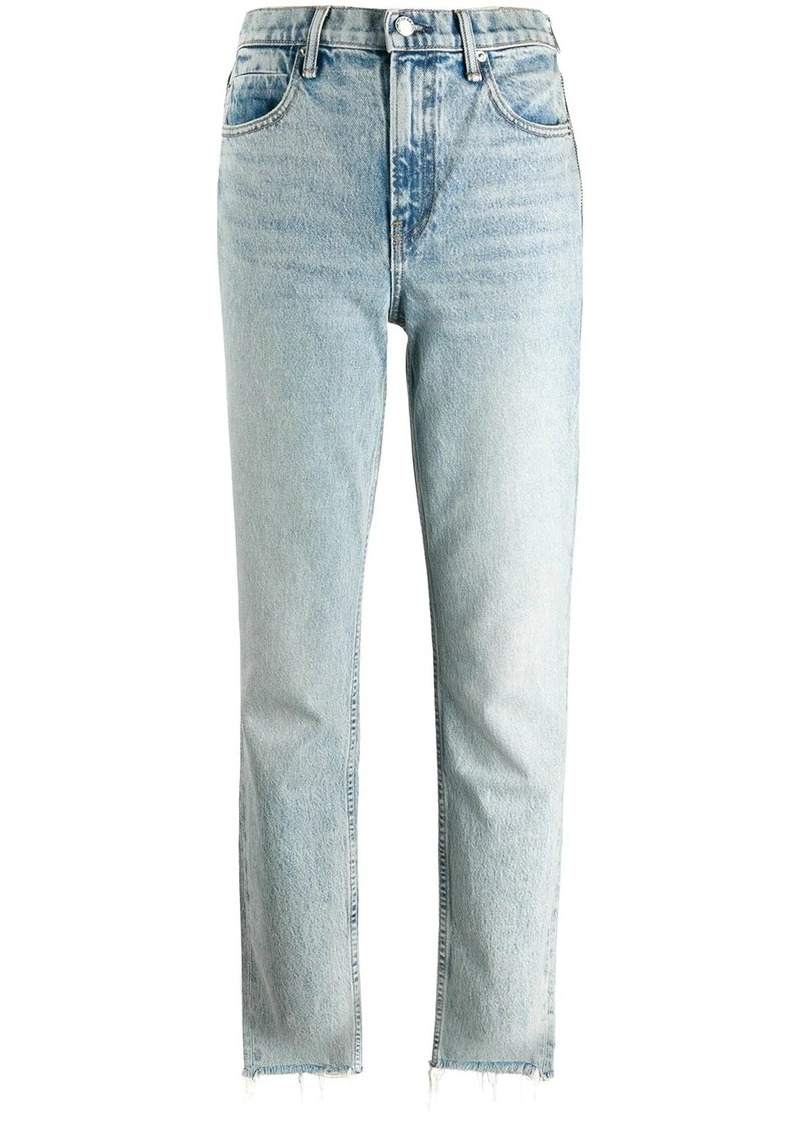 Alexander Wang stonewashed straight-leg jeans