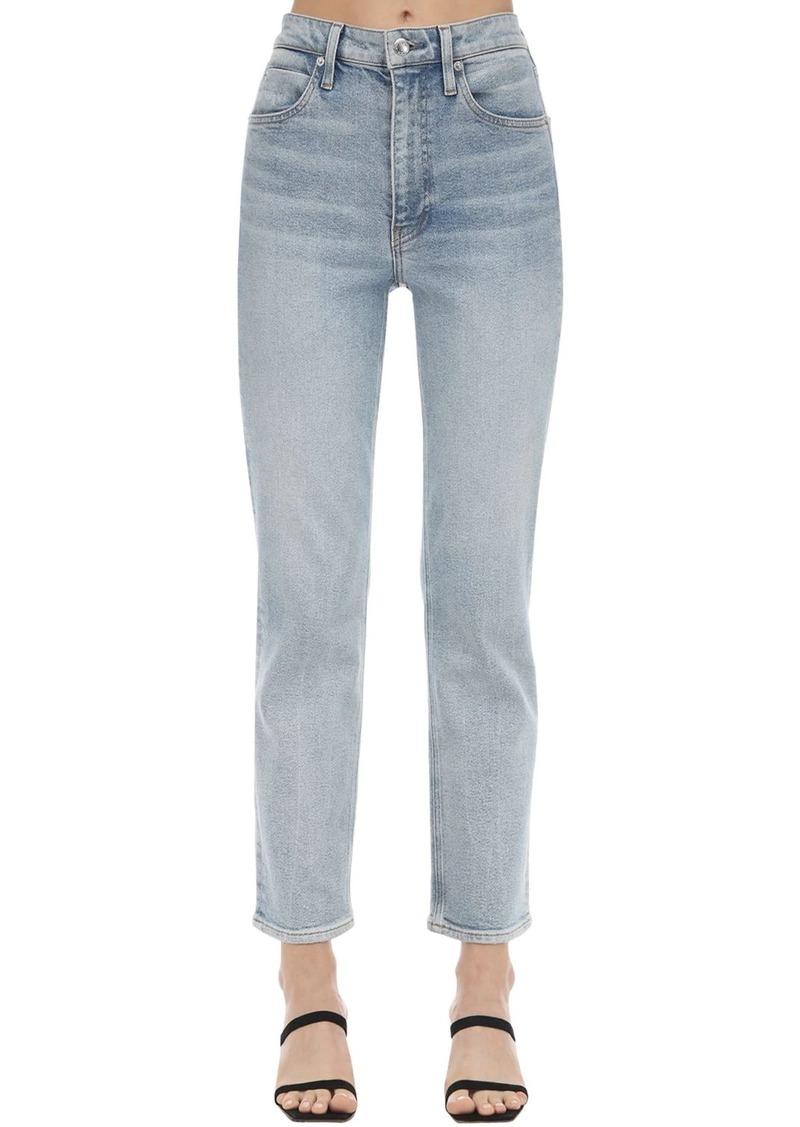 Alexander Wang Straight Leg Cotton Blend Denim Jeans