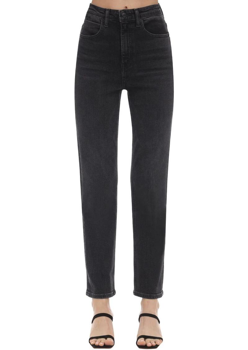 Alexander Wang Straight Leg Cotton Denim Jeans