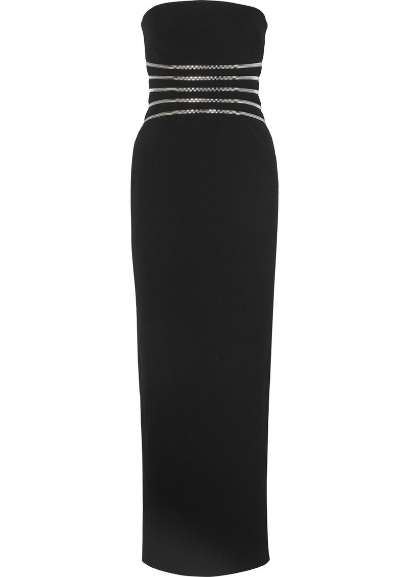 Alexander Wang Strapless Zip-detailed Cotton-blend Crepe Gown