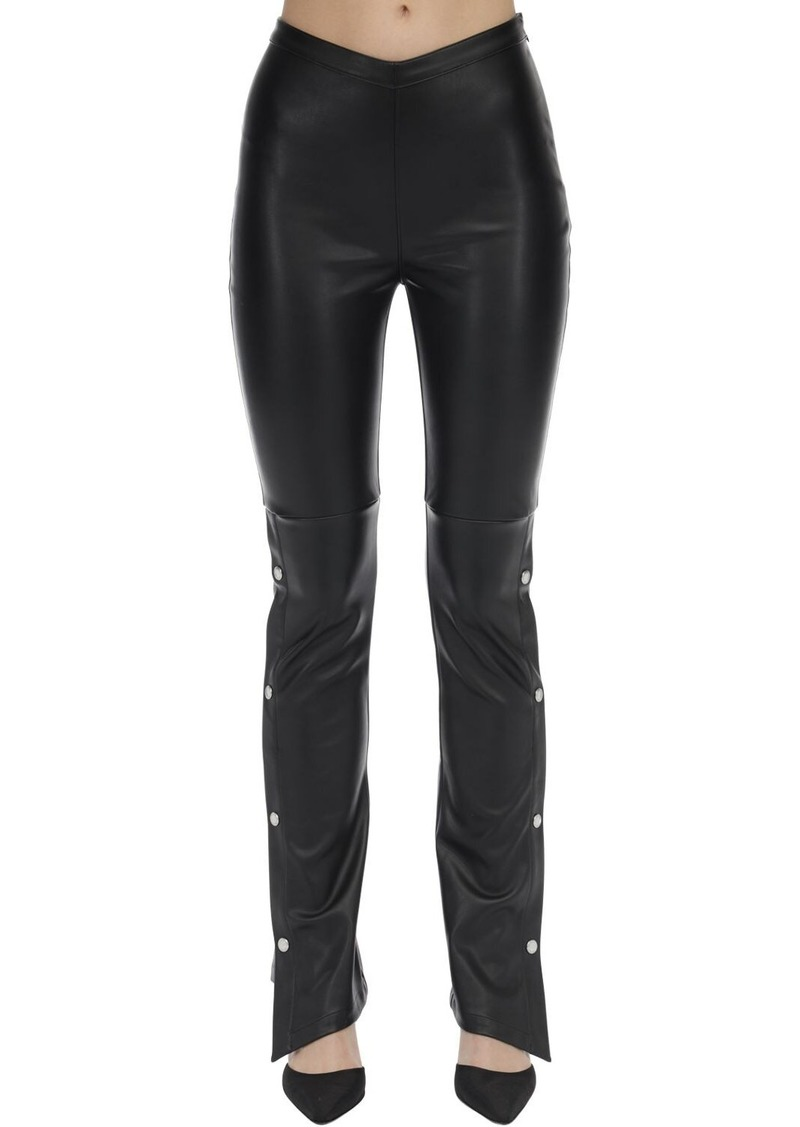 Alexander Wang Stretch Faux Leather Straight Pants