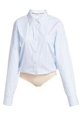 Alexander Wang Stripe Button-Down Bodysuit