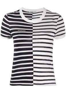 T by Alexander Wang stripe print T-shirt
