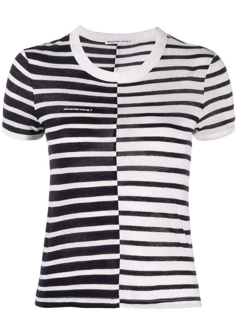 Alexander Wang stripe print T-shirt