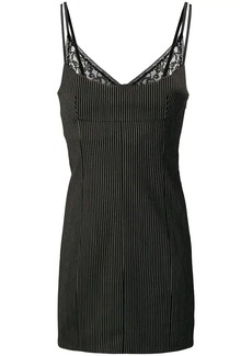 Alexander Wang striped and lace-trim dress