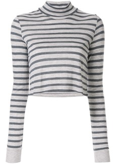 Alexander Wang striped cropped T-shirt
