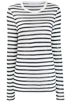 Alexander Wang striped long-sleeve top