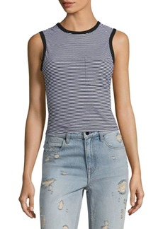 Alexander Wang Striped Open-Back Tank Top