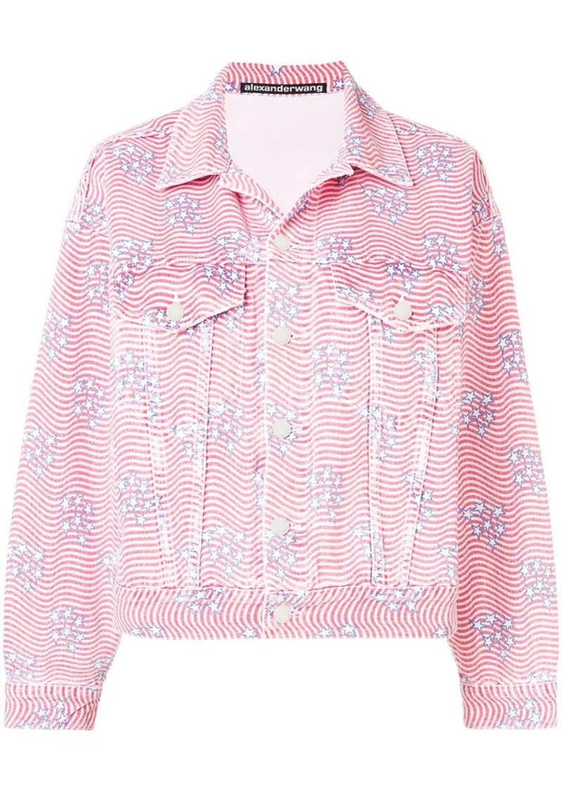 Alexander Wang stripes and stars shirt jacket