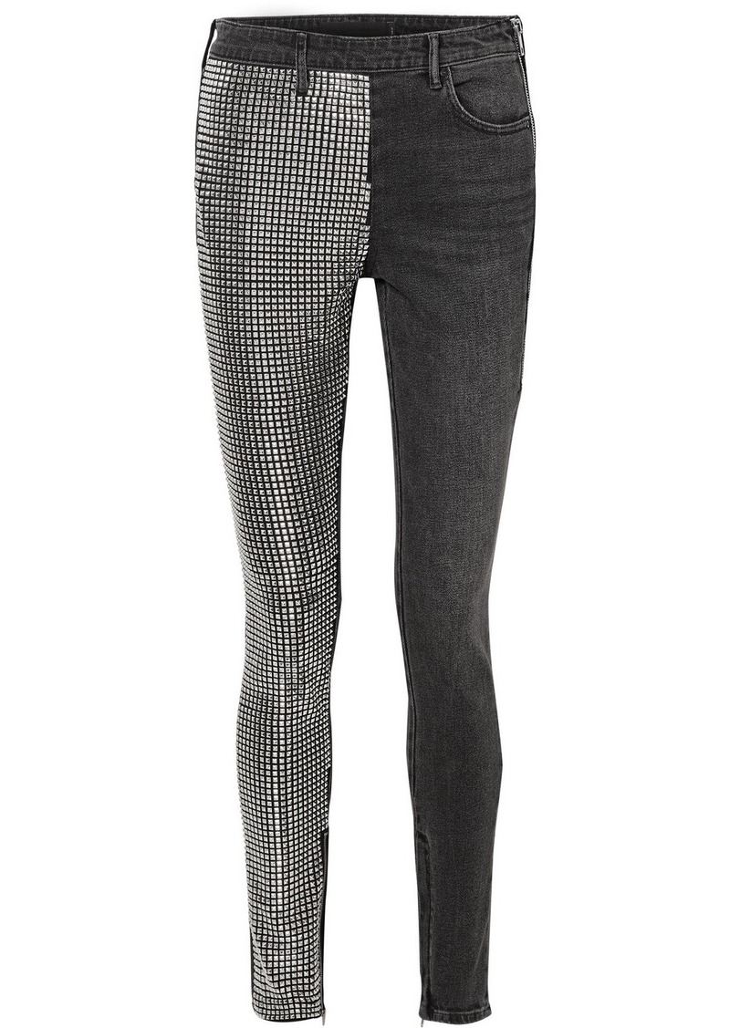 83f40f5ca1da Alexander Wang Studded High-rise Slim-leg Jeans Now  718.00