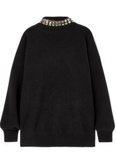 Alexander Wang Studded Wool-blend Turtleneck Sweater