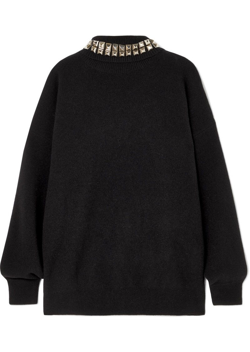 Alexander Wang Studded Wool-blend Turtleneck Sweater