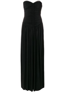 Alexander Wang sweetheart ruched bodice evening dress