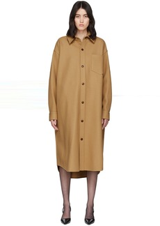 Alexander Wang Tan Oversized Wool-Blend Coat