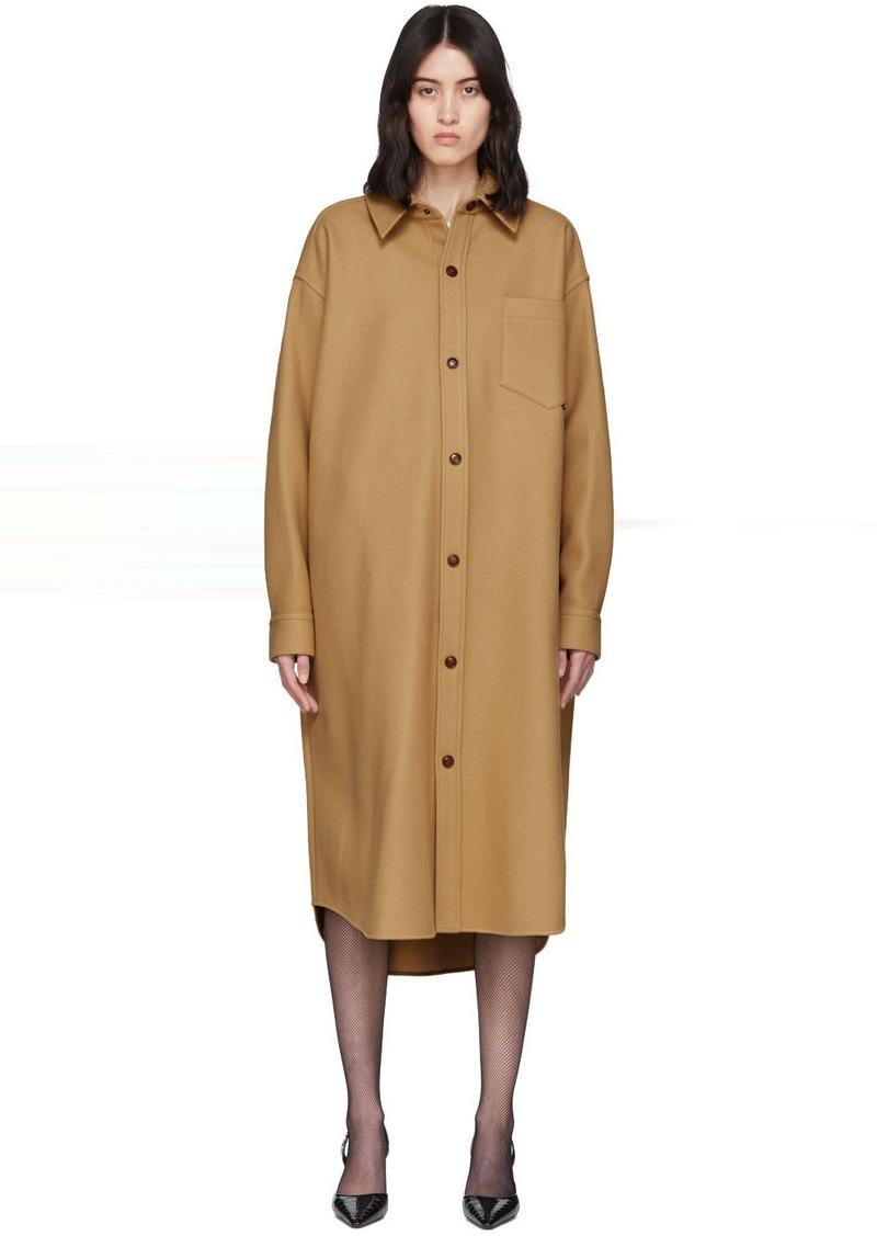 Alexander Wang Tan Oversized Wool-Blend Coat