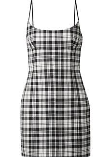 Alexander Wang Tartan Wool Mini Dress