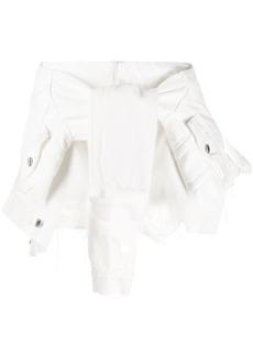 Alexander Wang tie front denim shorts