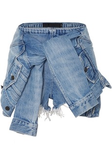 Alexander Wang Tie-front Denim Shorts