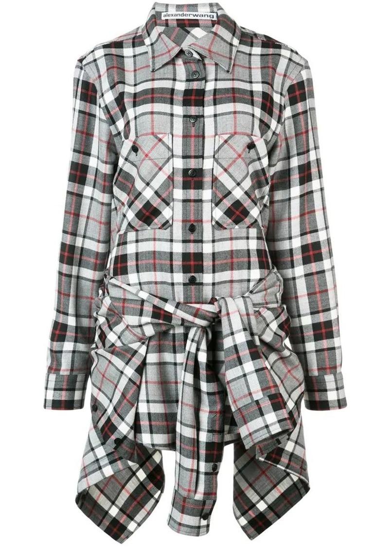 Alexander Wang tie front shirt dress