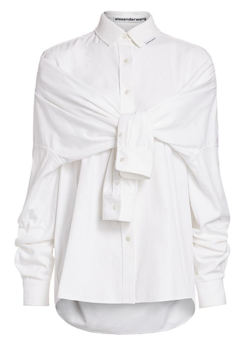 Alexander Wang Tie-Front Silk Shirt