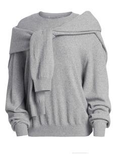 Alexander Wang Tie Shoulder Crew Sweater