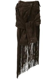 Alexander Wang tie-sleeve fringed skirt