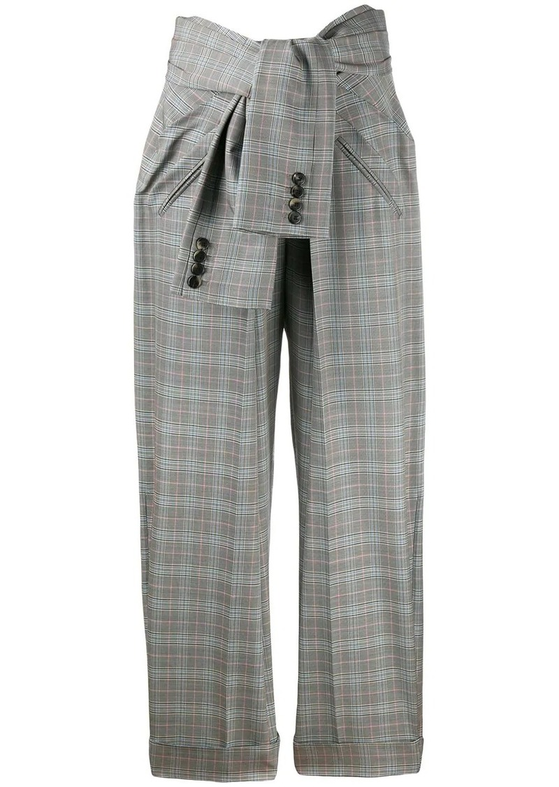 Alexander Wang tie waist check trousers