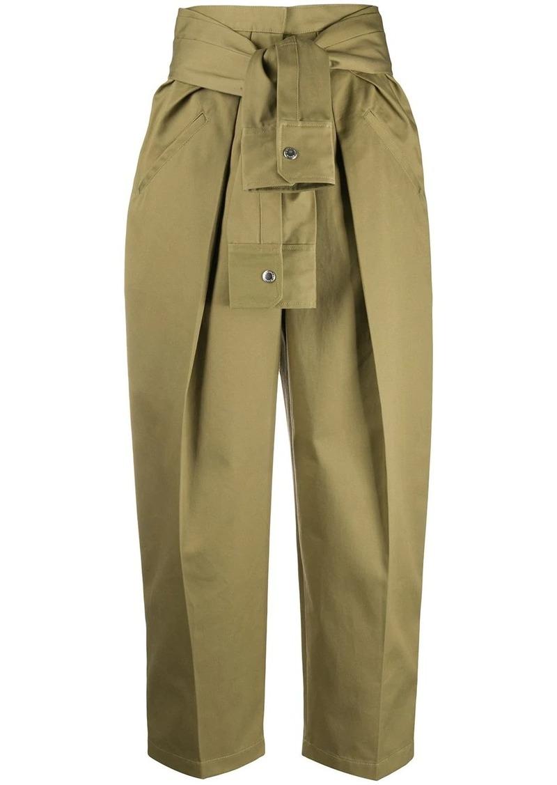 Alexander Wang tie-waist trousers