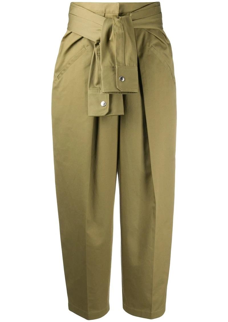 Alexander Wang tie-waist wide leg trousers
