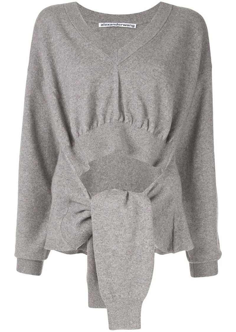 Alexander Wang tied sleeves jumper