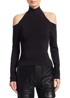Alexander Wang Turtleneck Shoulder Cutout Long Sleeve Top