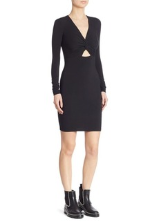 Alexander Wang Twist-Front Cutout Dress
