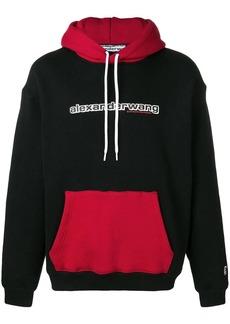 Alexander Wang two tone logo hoodie
