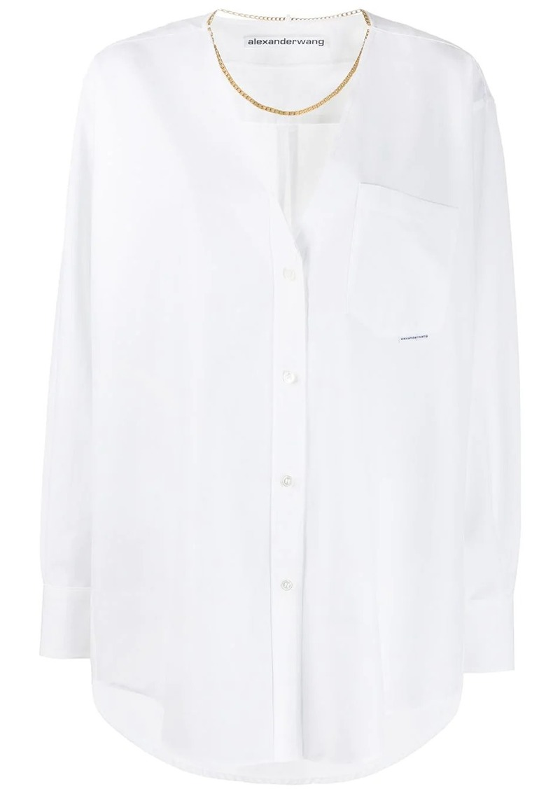 Alexander Wang v-neck chain blouse