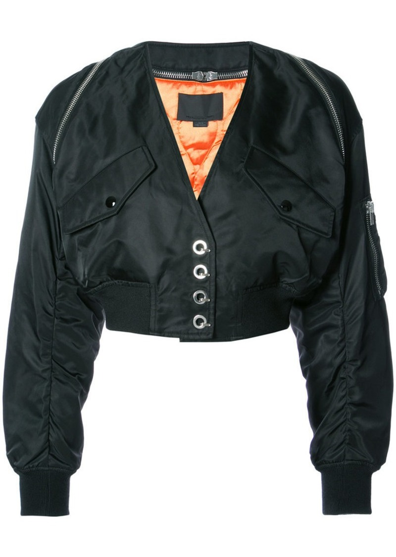 Alexander Wang V-Neck cropped bomber jacket