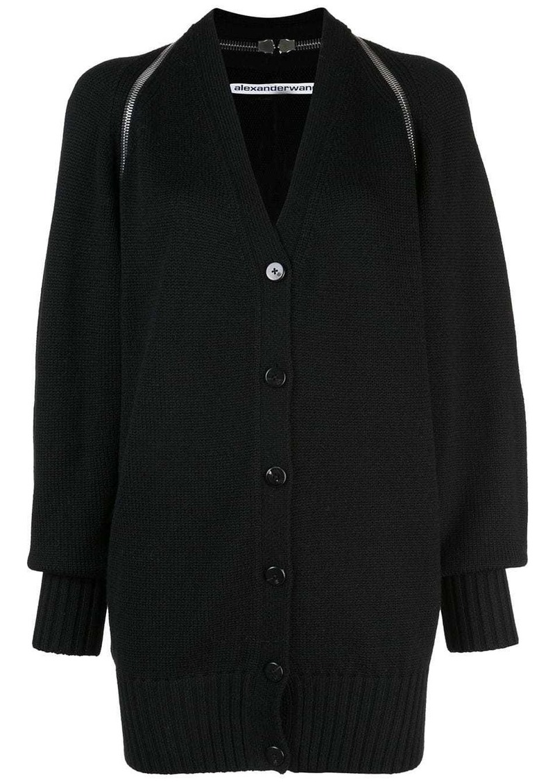 Alexander Wang v-neck split shoulder cardigan