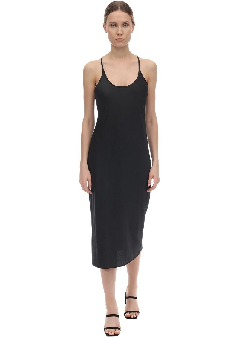 Alexander Wang Washed Satin Midi Dress