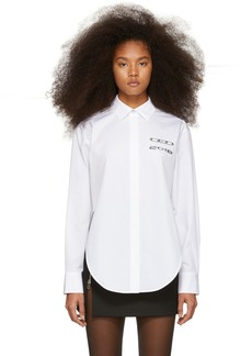 Alexander Wang White Chrome 'CEO' Shirt