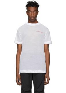 Alexander Wang White Cotton Mesh T-Shirt