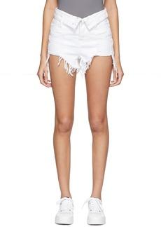 Alexander Wang White Denim Bite Flip Shorts