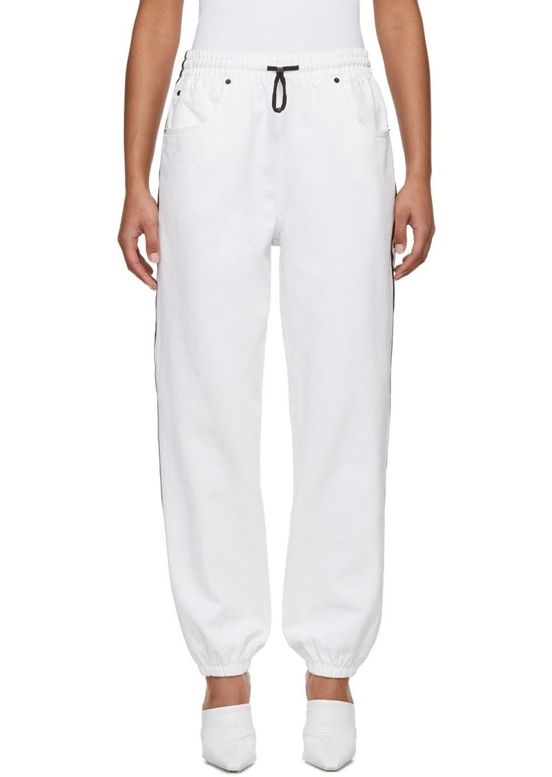 Alexander Wang White Denim Jogger Jeans