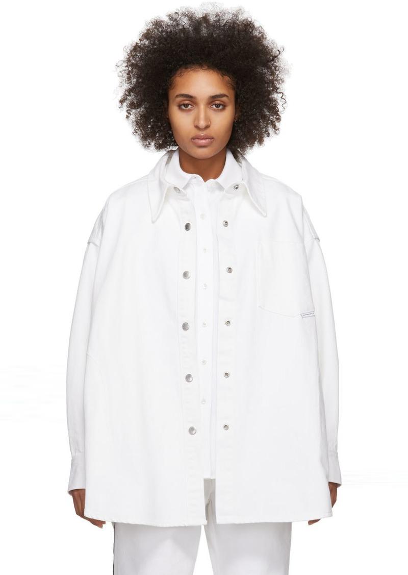 Alexander Wang White Denim Long Jacket Shirt