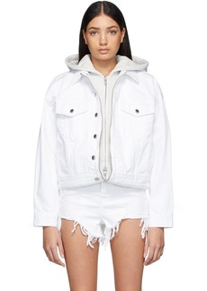 Alexander Wang White Denim Runway Game Jacket