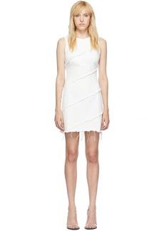 Alexander Wang White Diagonal Seamed Dress
