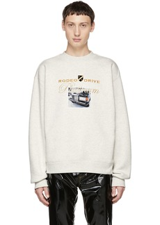 Alexander Wang White Platinum Car Sweatshirt