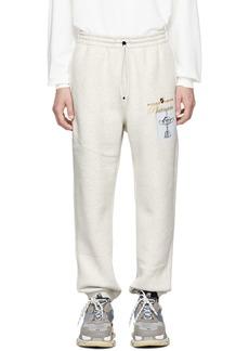 Alexander Wang White Platinum Trophy Lounge Pants