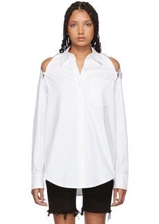 Alexander Wang White Shoulder Zippers Shirt