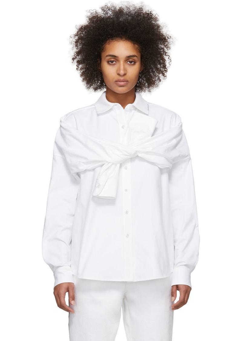 Alexander Wang White Tie Front Shirt