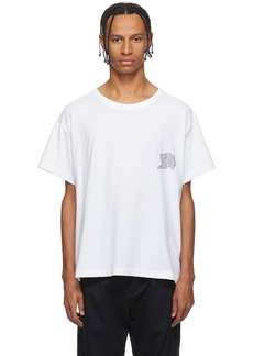 Alexander Wang White Warped Logo T-Shirt