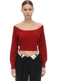 Alexander Wang Wide Round Neck Wool Sweater